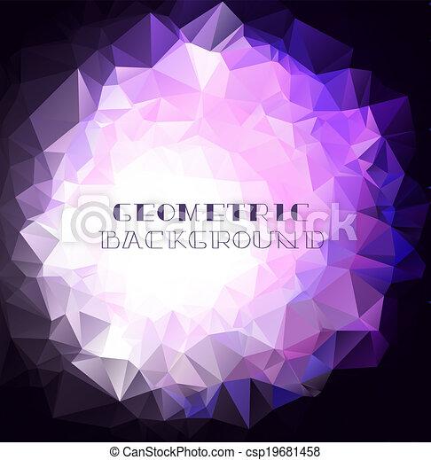 purpurowy, geometryczny, tło - csp19681458