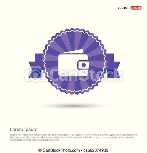 purse icon - Purple Ribbon banner - csp62074933