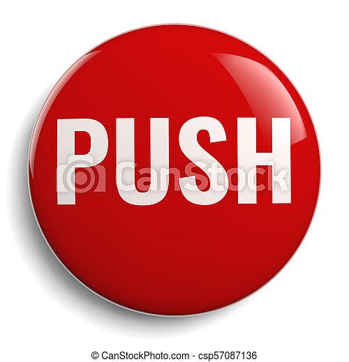 Push Button Round 3D Icon - csp57087136