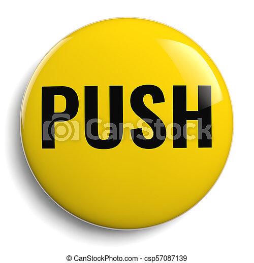 Push Button Round 3D Icon - csp57087139