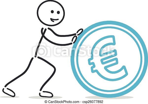 push euro coin - csp26077892