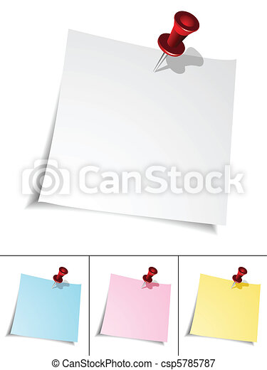 Push Pin and Paper Note - csp5785787