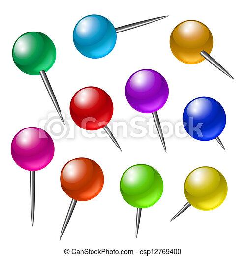 Push pins - csp12769400