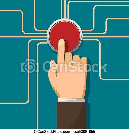 push the button - csp53891855