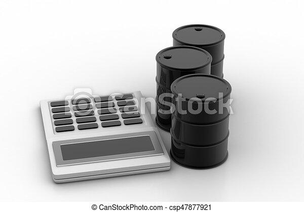puskacső, olaj, számológép - csp47877921