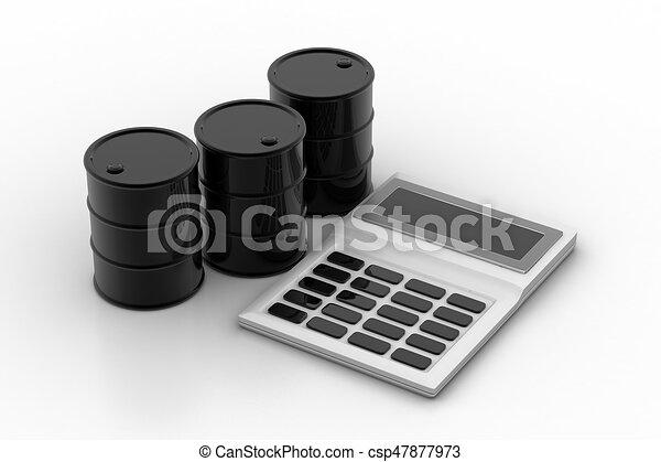 puskacső, olaj, számológép - csp47877973