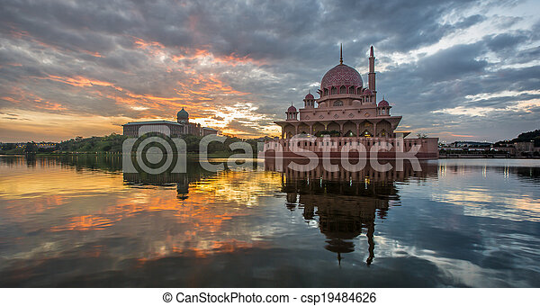 Putra Mosque, Malaysia - csp19484626