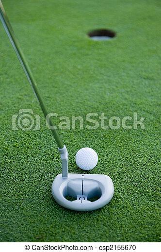 Golf putt - csp2155670