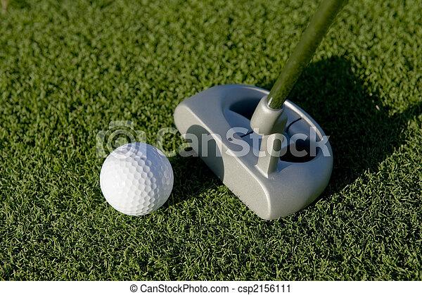 Golf putt - csp2156111