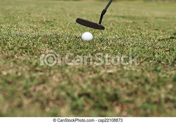 Putting golf ball - csp22108873