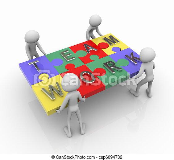 Puzzle-Team-Arbeit - csp6094732
