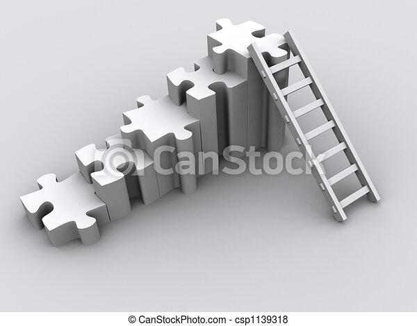 puzzel, leiter - csp1139318