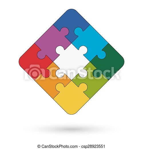 puzzel, quadrat, zentrieren - csp28923551