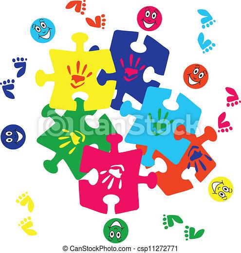 puzzelstukjes - csp11272771