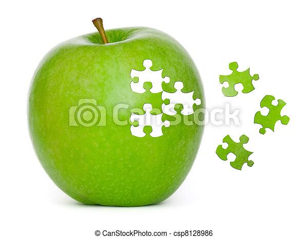 Puzzle Apple - csp8128986