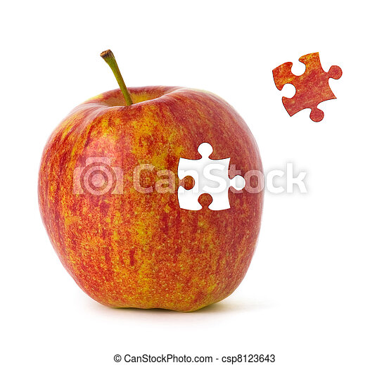 Puzzle Apple - csp8123643