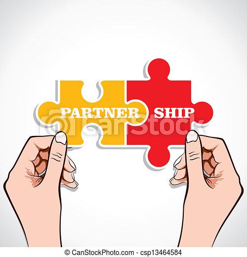 puzzle, association, morceau, main - csp13464584