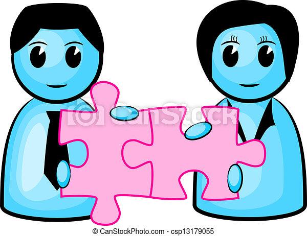 puzzle, collaboration - csp13179055