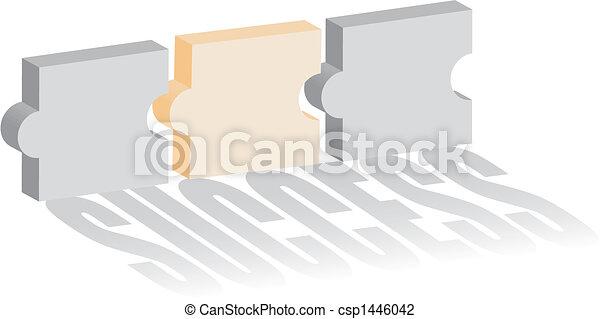 puzzle, concept, reussite - csp1446042