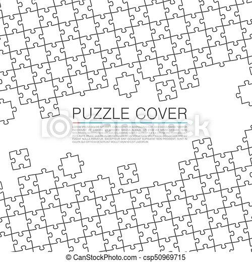 Puzzle cover art color background. - csp50969715