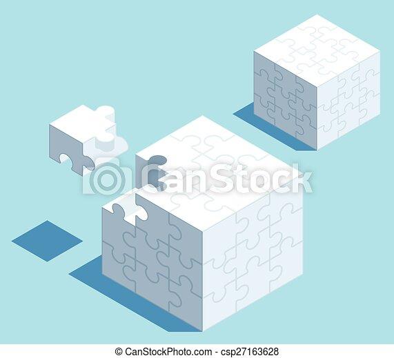 Puzzle Cube - csp27163628
