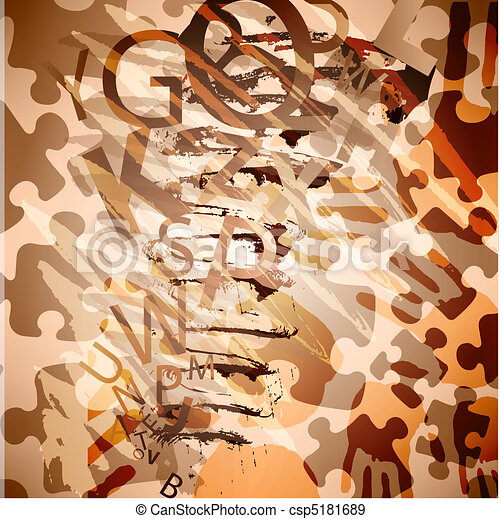 puzzle, forme, vecteur, conception, résumé - csp5181689