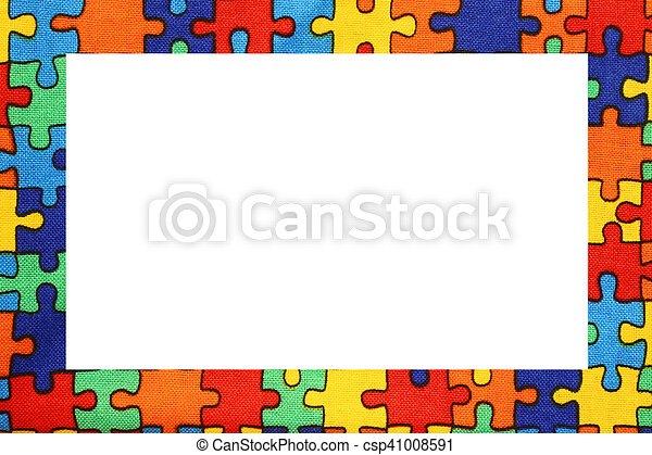 Puzzle frame with space to write your text. Puzzle nice frame with ...