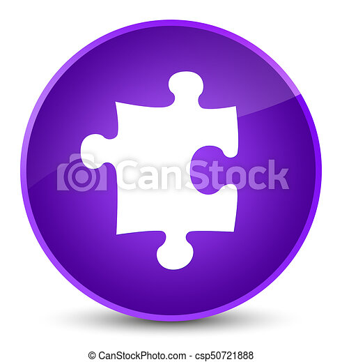 Puzzle icon elegant purple round button - csp50721888