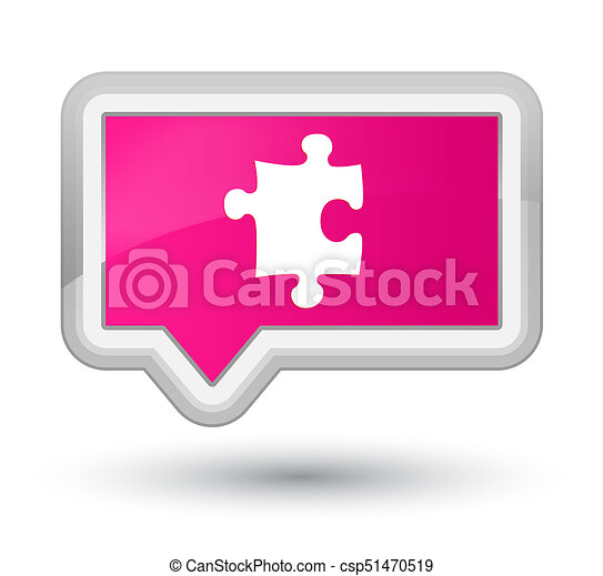 Puzzle icon prime pink banner button - csp51470519