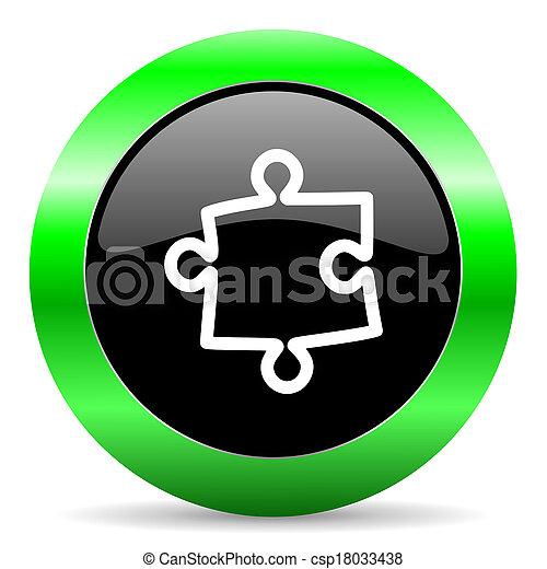 puzzle icon - csp18033438