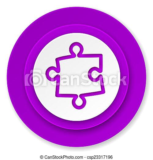 puzzle icon, violet button - csp23317196