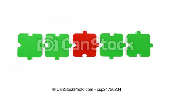 Puzzle in a row - csp24726234