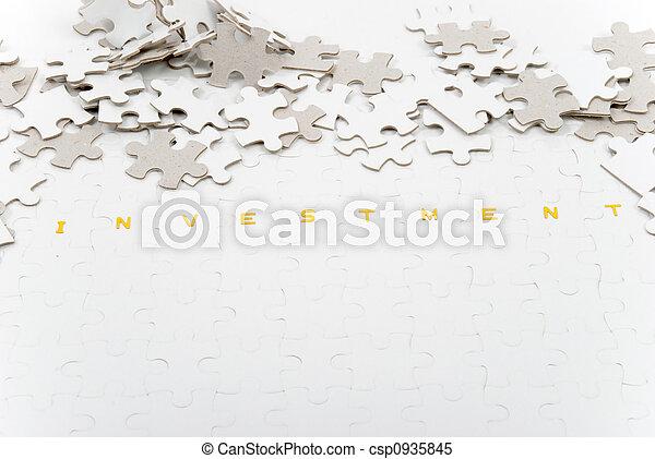 puzzle, investissement - csp0935845