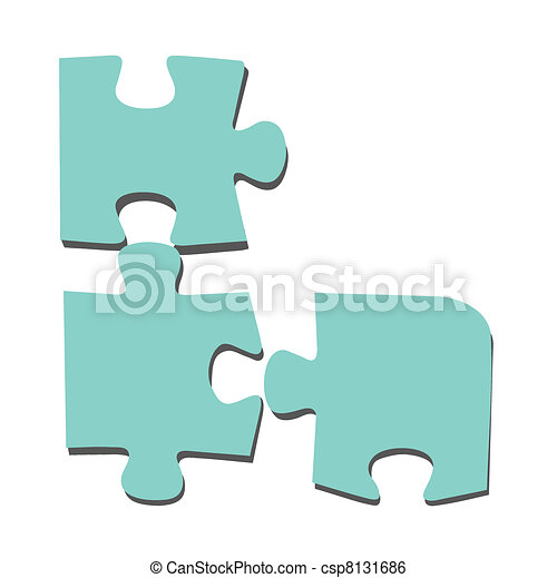 puzzle on white background, vector illustration - csp8131686