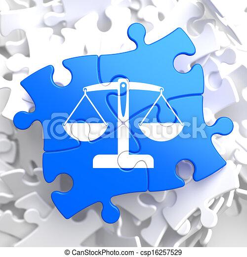 Puzzle Pieces: Justice Concept. - csp16257529