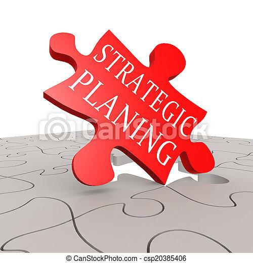 puzzle, planification, stratégique - csp20385406