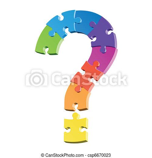 puzzle, punto interrogativo - csp6670023