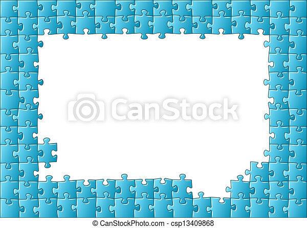 puzzle, puzzle, cadre - csp13409868
