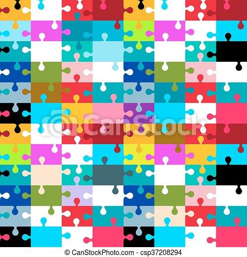 puzzle, puzzle, -, seamless, illustration, vecteur - csp37208294