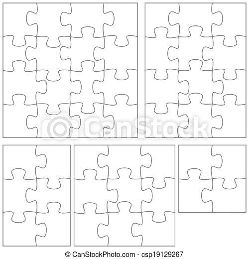 puzzle, sagoma - csp19129267
