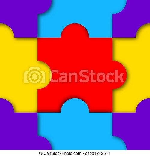 puzzle, seamless, modèle, vecteur, illustration. - csp81242511