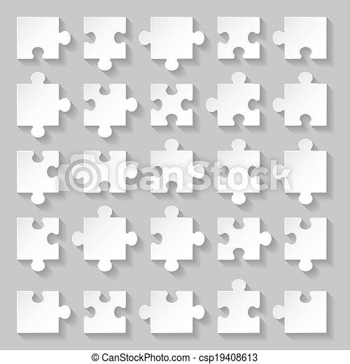 puzzle, set - csp19408613