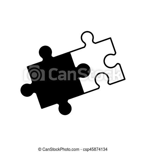 puzzle solution collaboration monochrome - csp45874134