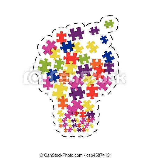 puzzle solution image graphic - csp45874131
