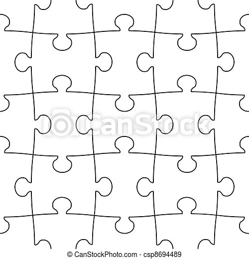puzzle, transparent, seamless - csp8694489