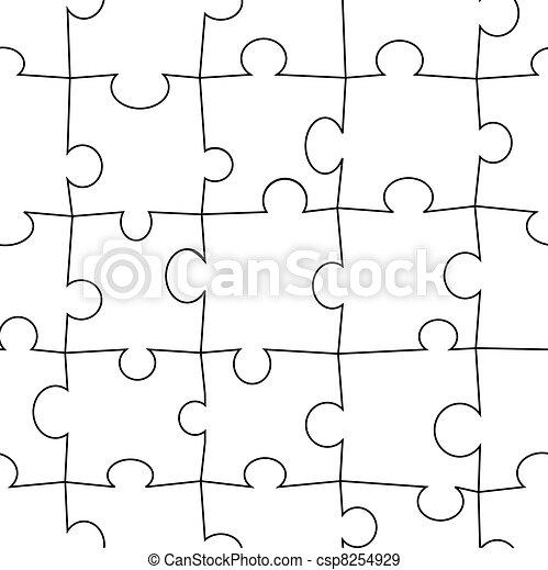 puzzle, vecteur, seamless - csp8254929