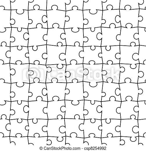 puzzle, vecteur, seamless - csp8254992
