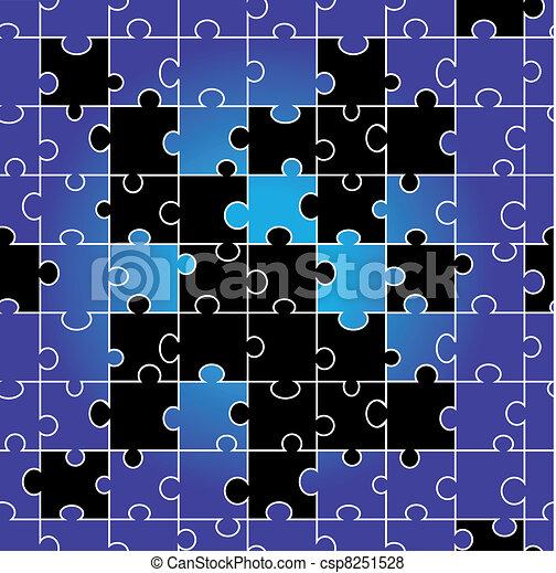 puzzle, vecteur, seamless - csp8251528