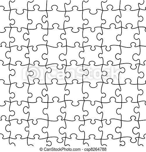 puzzle, vecteur, seamless - csp8264788