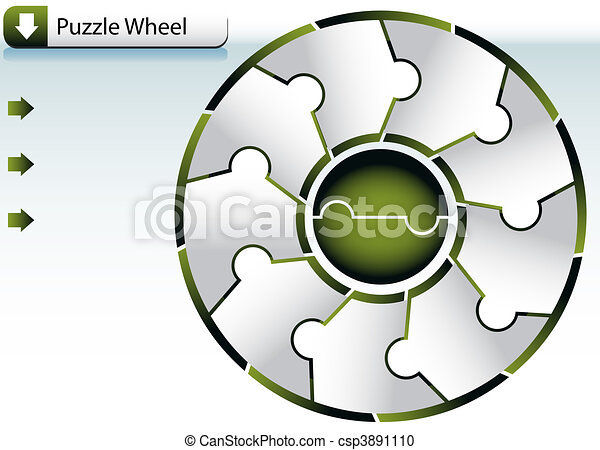 Puzzle wheel chart vector clipart search illustration drawings puzzle wheel chart csp3891110 ccuart Images